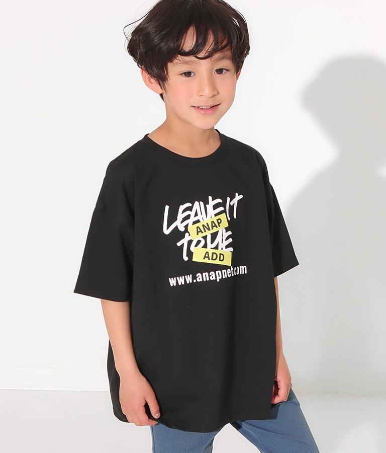 吸水速乾手書きプリントビッグTシャツ(トップス/Tシャツ・チュニック) | ANAP KIDS