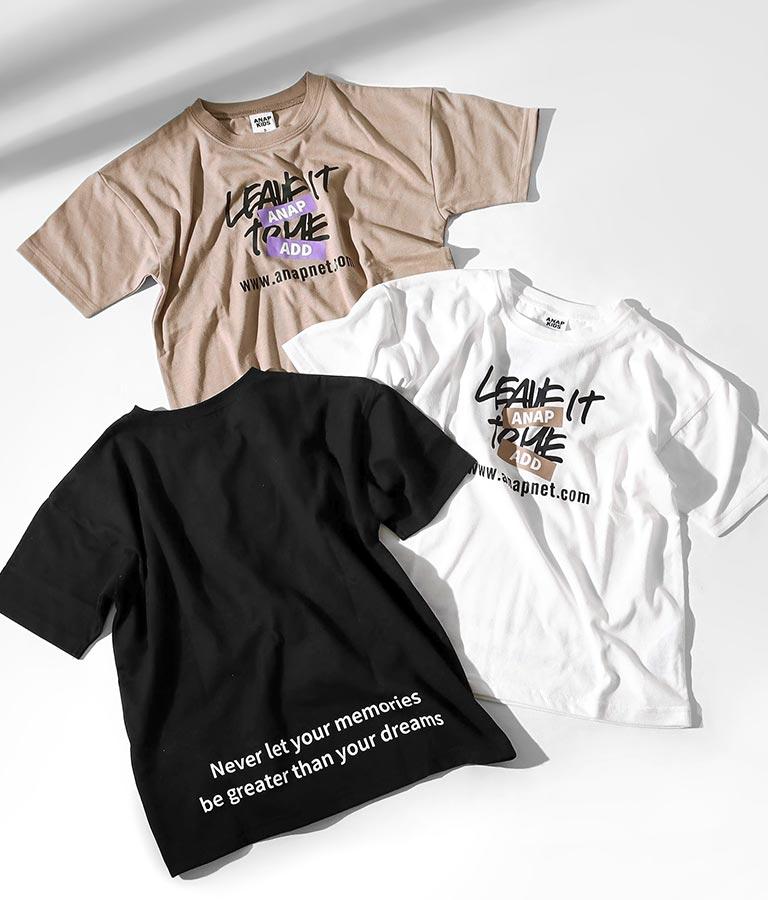 吸水速乾手書きプリントビッグTシャツ