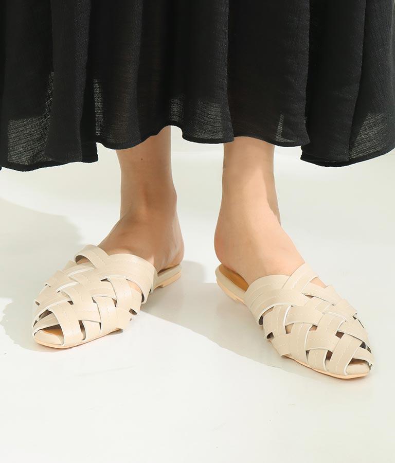 編み模様ペタサンダル(シューズ・靴/サンダル) | CHILLE