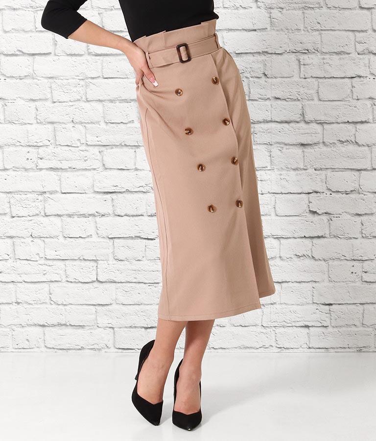 トレンチロングスカート