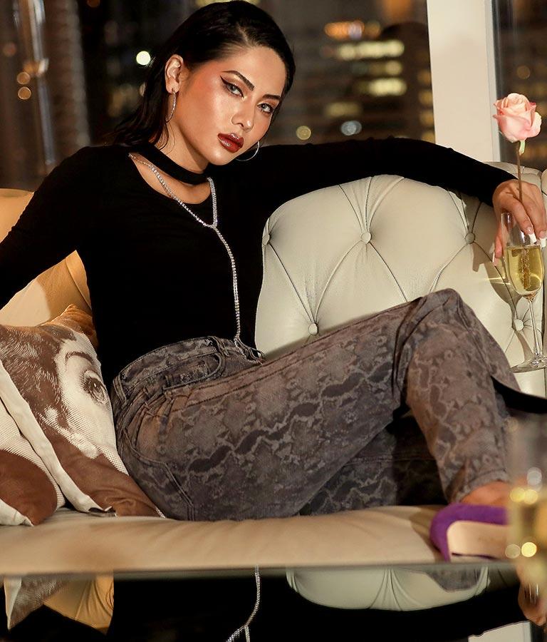 ラインストーン付トップス | anap Latina