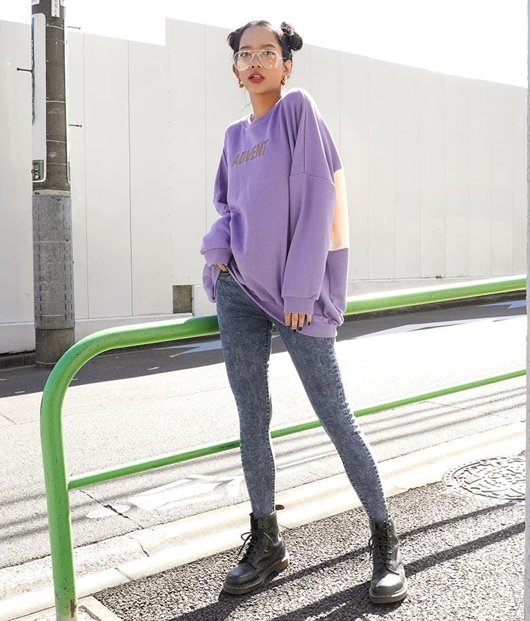 刺繍×バックロゴオーバーサイズ裏毛プルオーバー | ANAP