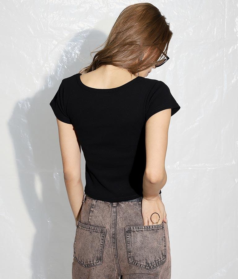 クロップドタイトTシャツ(トップス/Tシャツ) | ANAP