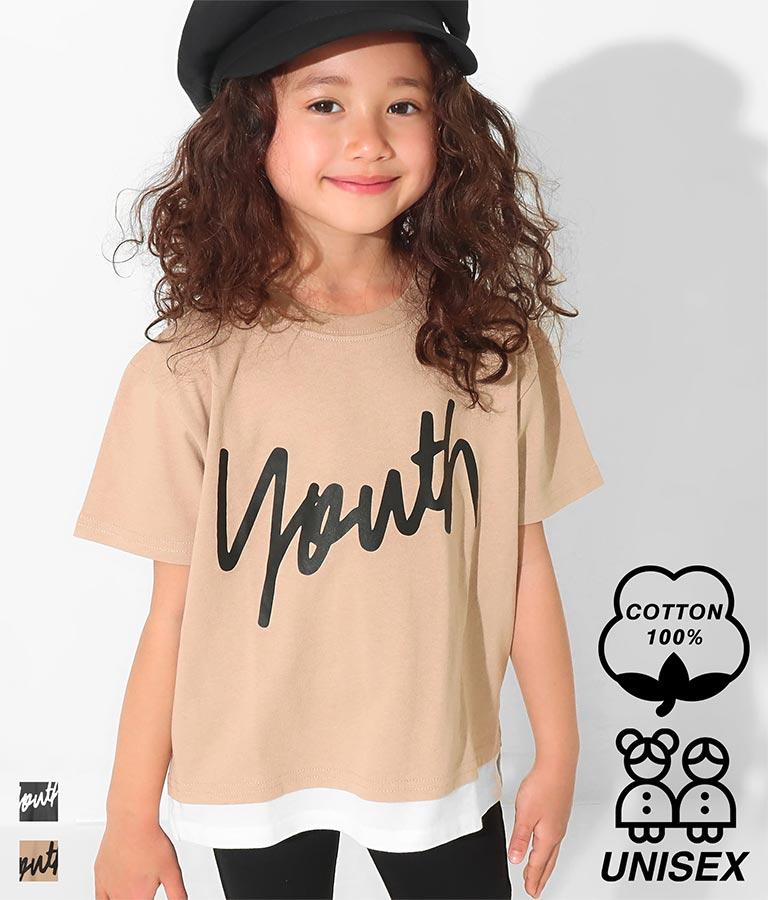 レイヤード風プリントTシャツ