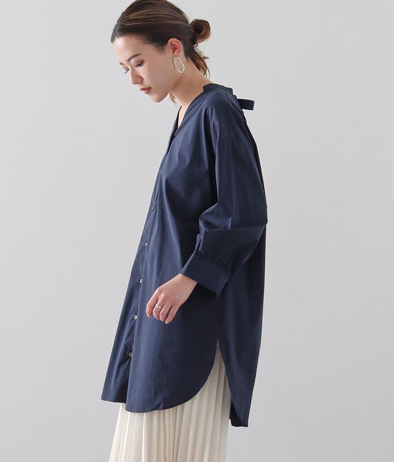 グログランリボンシャツ(トップス/シャツ・ブラウス) | Alluge