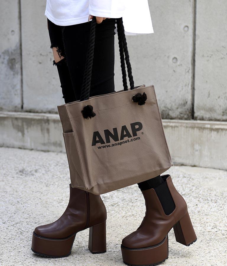 ANAPロゴキャンバスミニトートバッグ(バッグ・鞄・小物/トートバッグ) | ANAP