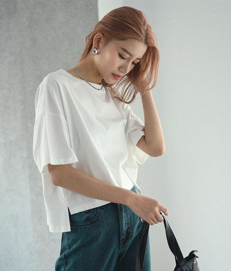 サイドスリットクロップドTシャツ(トップス/Tシャツ) | ANAP