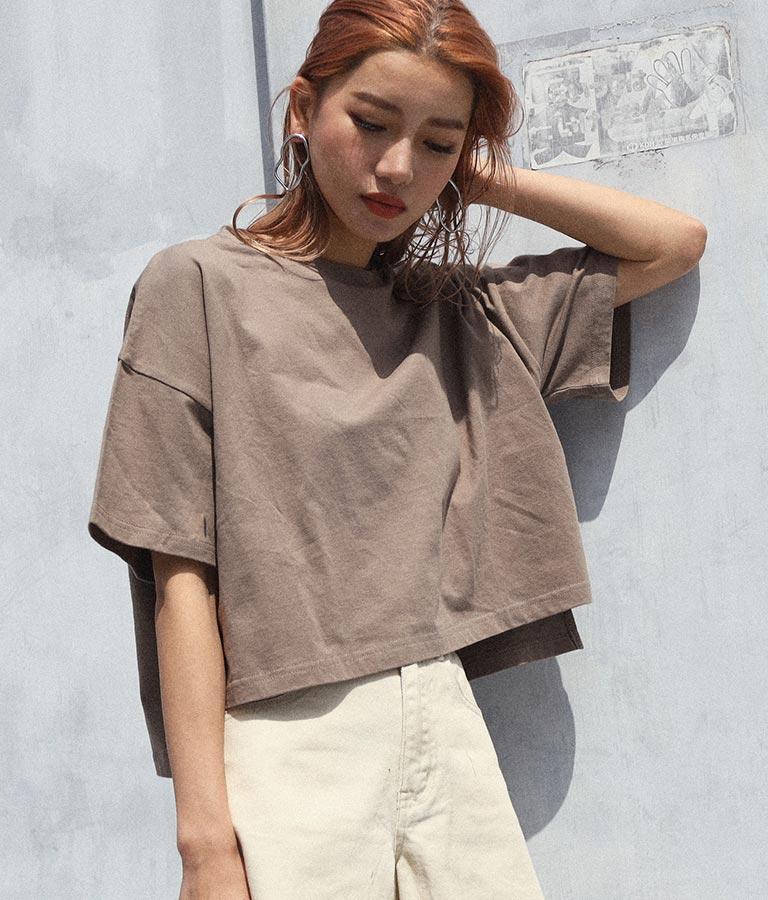 サイドスリットクロップドTシャツ | ANAP