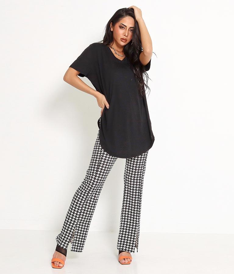 VネックラウンドヘムゆるてろTシャツ(トップス/Tシャツ・チュニック・カットソー ) | anap Latina