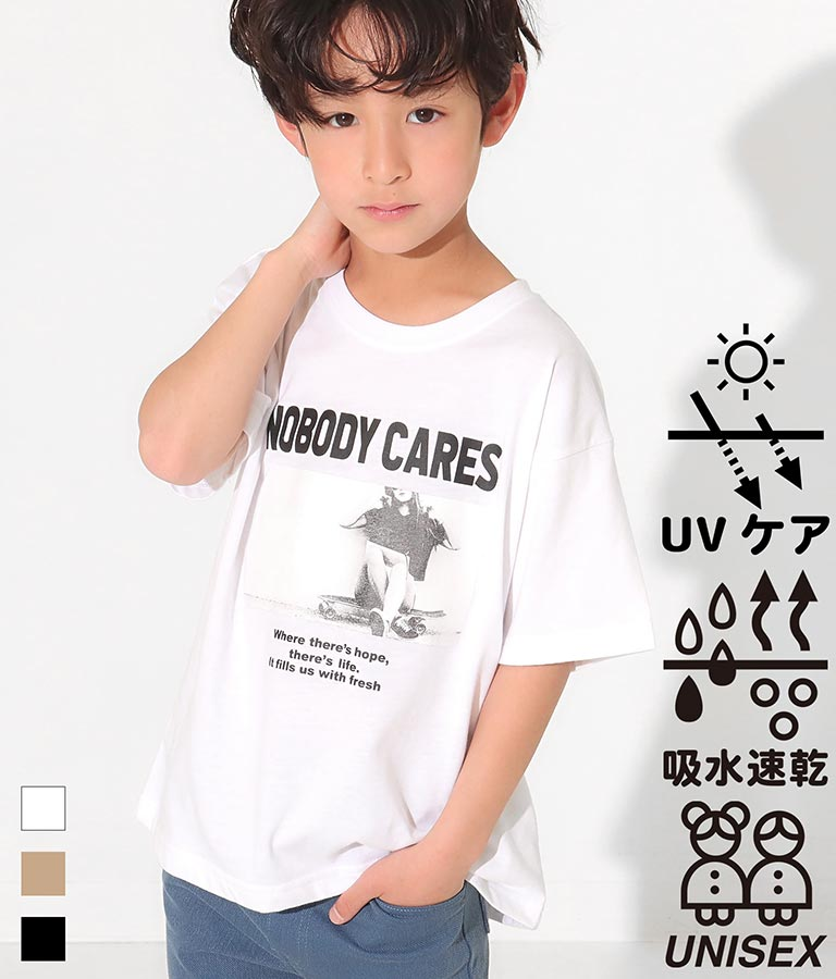 吸水速乾フォトプリントビッグTシャツ