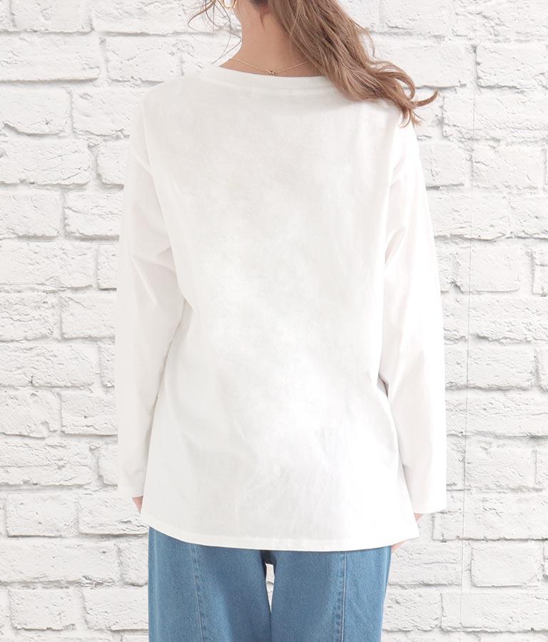 筆記体レタリングロンT(トップス/Tシャツ・ロングTシャツ)   CHILLE
