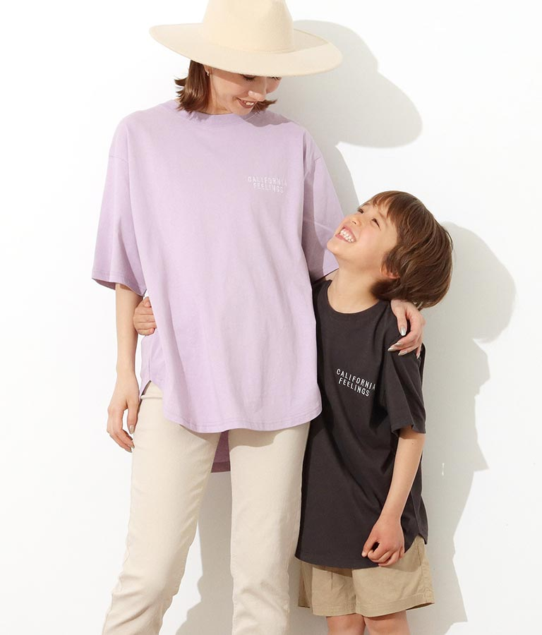 【KIDS】パームツリー刺繍ラウンドヘムビックTシャツ(トップス/Tシャツ) | anap mimpi
