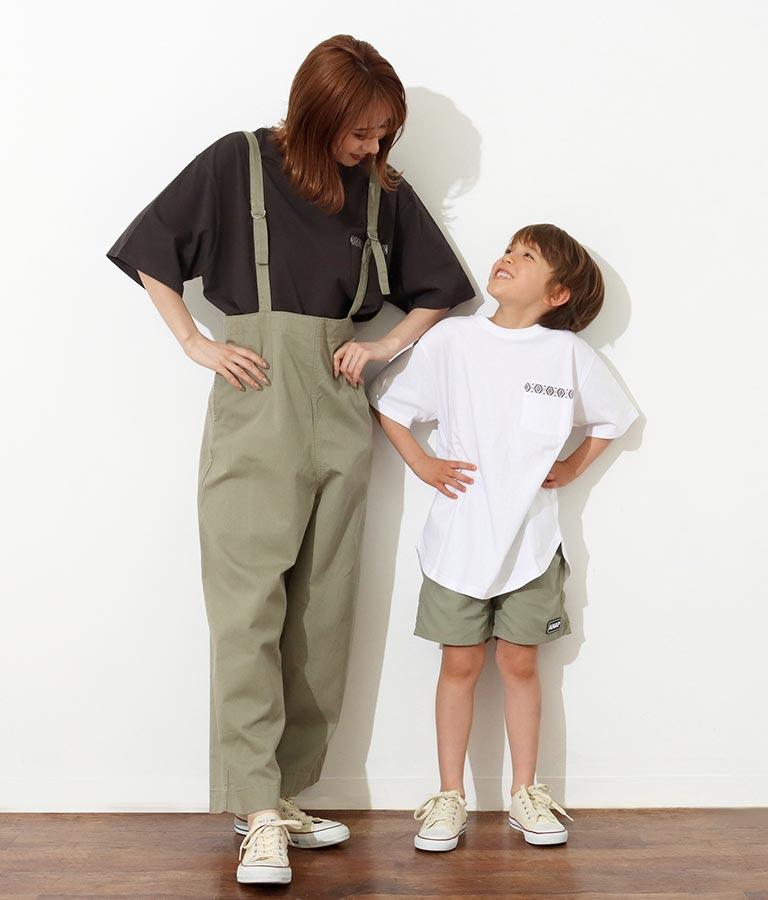 【KIDS】オルテガ刺繍ラウンドヘムビックTシャツ(トップス/Tシャツ) | anap mimpi