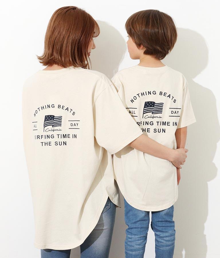 【KIDS】国旗刺繍ラウンドヘムビッグTシャツ(トップス/Tシャツ) | anap mimpi