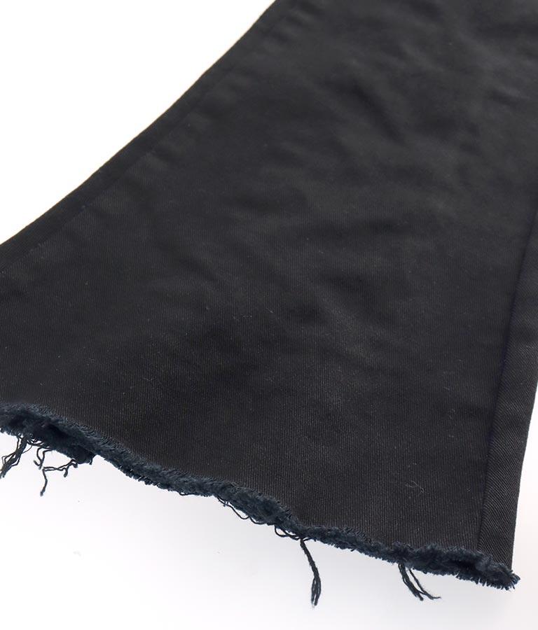 バックレースアップブラックフレアパンツ(ボトムス・パンツ /ロングパンツ) | ANAP