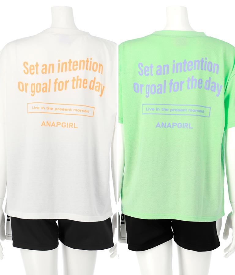 Tシャツ+ラインショートパンツセットアップ(トップス/Tシャツ・ショートパンツ) | ANAP GiRL