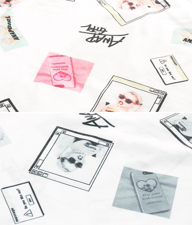ガール総柄ビッグTシャツ+レギンスセットアップ(トップス/Tシャツ・レギンス) | ANAP GiRL