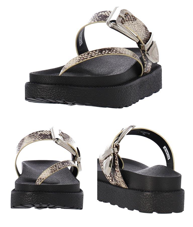 ベルトデザインサンダル(シューズ・靴/サンダル) | Alluge