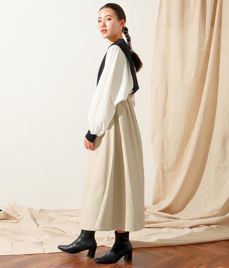エコレザーフロントボタンスカート(ボトムス・パンツ /スカート)   Alluge