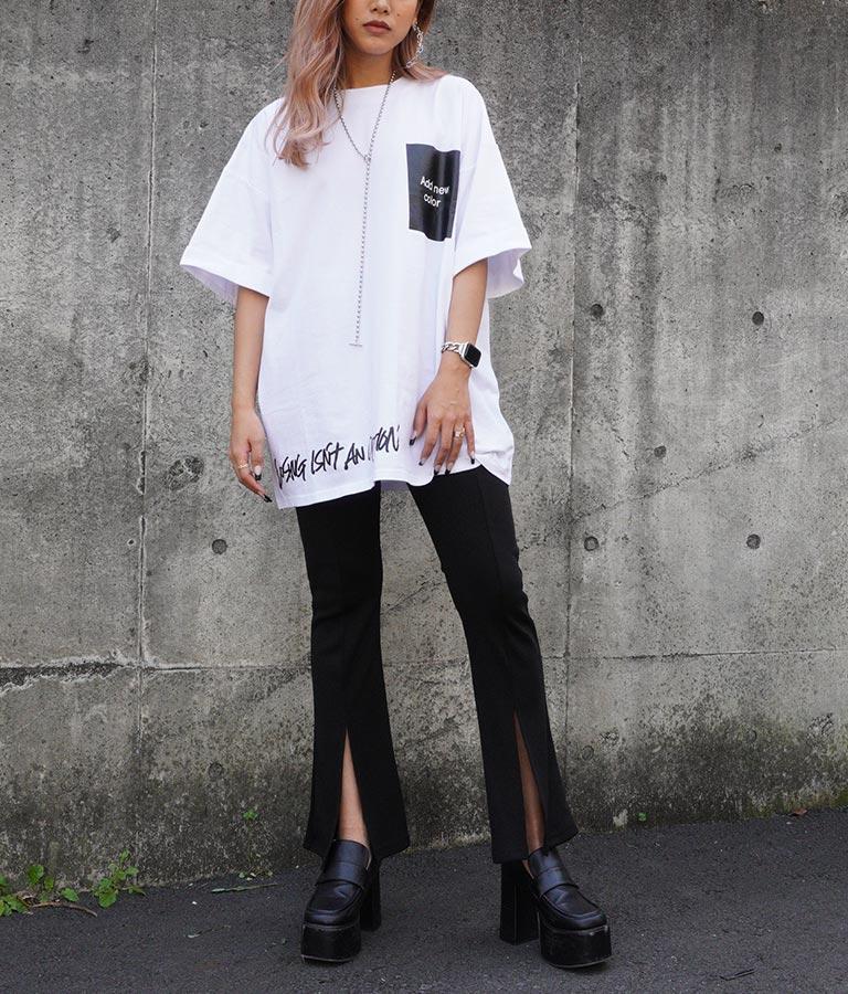 プリントロールアップオーバーサイズTシャツ | ANAP