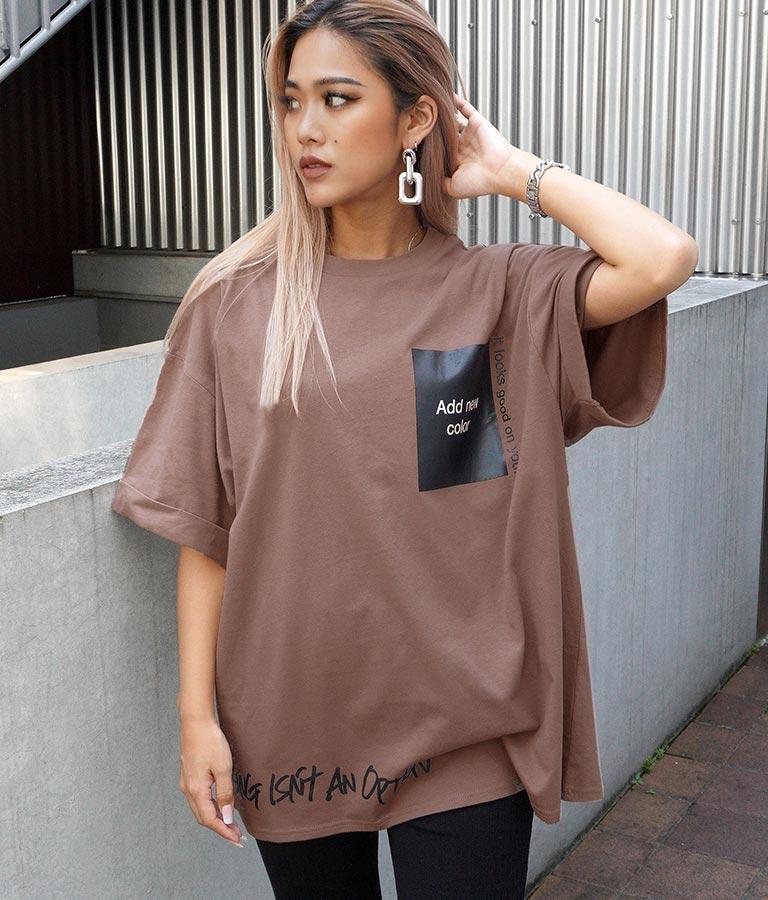 プリントロールアップオーバーサイズTシャツ(トップス/Tシャツ) | ANAP