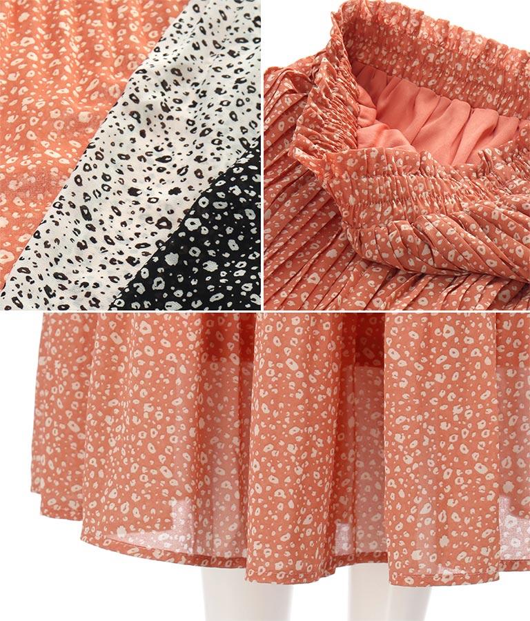 ミニレオパード柄消しプリーツスカート(ボトムス・パンツ /スカート) | CHILLE
