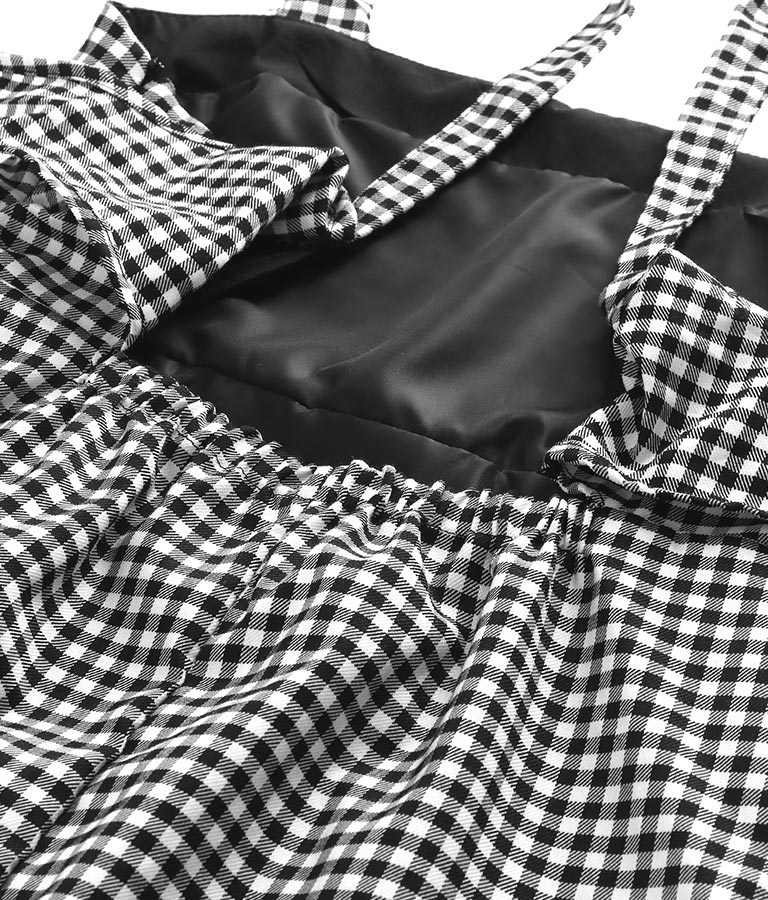 バックリボンギンガムチェックワンピース(ワンピース・ドレス/ロングワンピ) | CHILLE