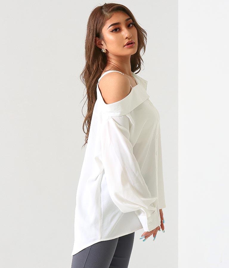 アシンメトリーオフショルダールーズシャツ(トップス/シャツ・ブラウス) | anap Latina