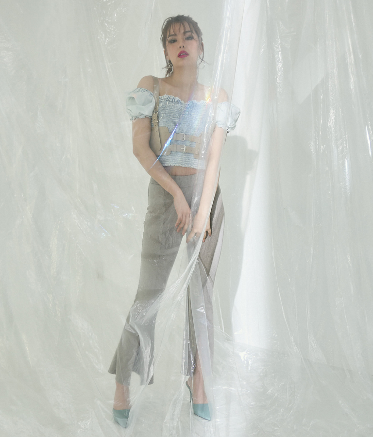 エコレザーコルセット風ベルト(ファッション雑貨/ベルト) | ANAP