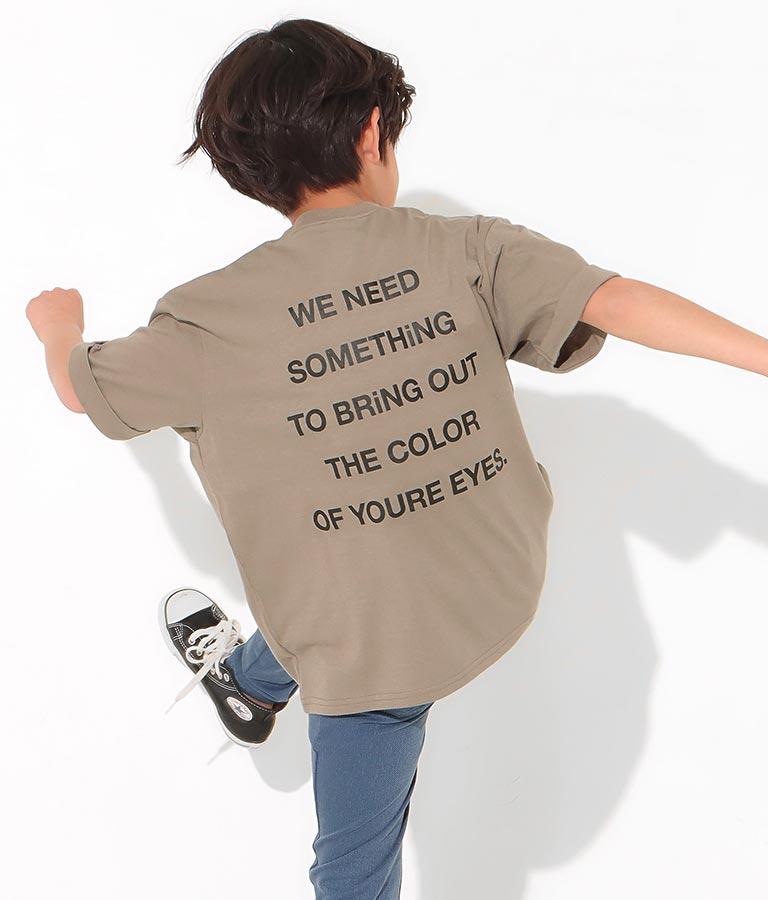 ロールアップ袖プリントビッグTシャツ(トップス/Tシャツ) | ANAP KIDS