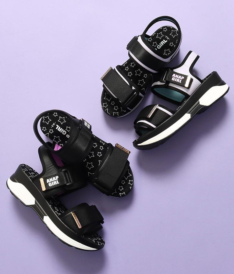 シンプルロゴ厚底スポーツサンダル(シューズ・靴/サンダル)   ANAP GiRL