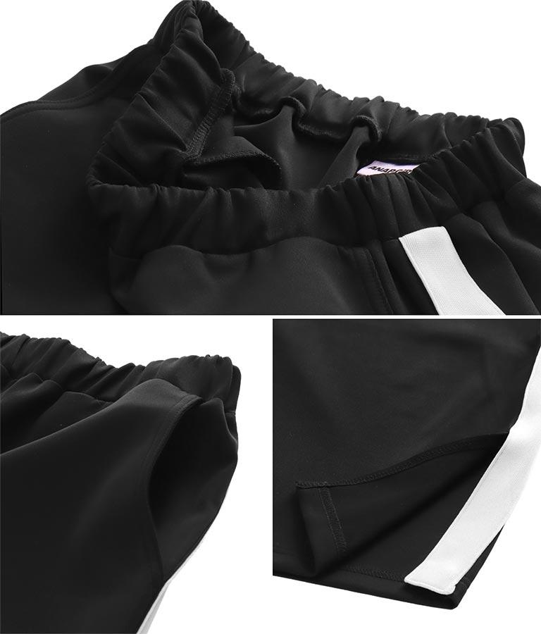 デザインTシャツ+ラインワイドパンツセットアップ(トップス/Tシャツ・ロングパンツ) | ANAP GiRL
