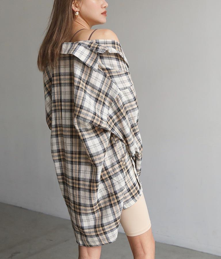 オーバーサイズチェックシャツ(トップス/チェックシャツ・シャツ・ブラウス) | ANAP