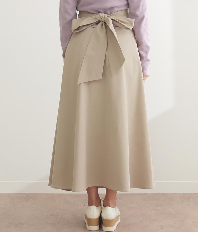 バックリボンツイルフレアスカート(ボトムス・パンツ /スカート) | CHILLE
