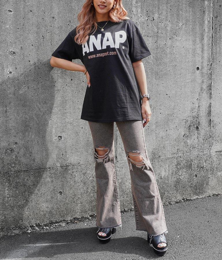 ANAPロゴバックサークルプリントTシャツ(トップス/Tシャツ) | ANAP