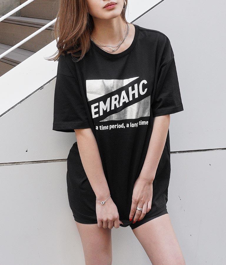 箔トライアングルプリントTシャツ(トップス/Tシャツ)   ANAP
