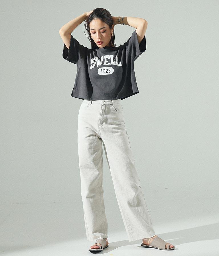 カレッジプリントクロップドTシャツ(トップス/Tシャツ) | ANAP