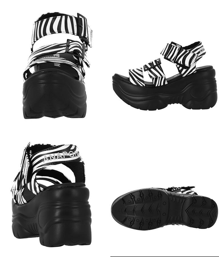 ロゴ刺繍厚底ベルトサンダル(シューズ・靴/サンダル)   ANAP GiRL