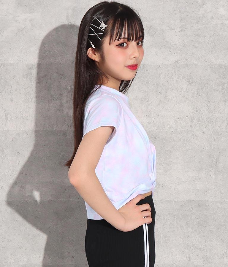 タイダイ柄ギャザートップス(トップス/Tシャツ) | ANAP GiRL