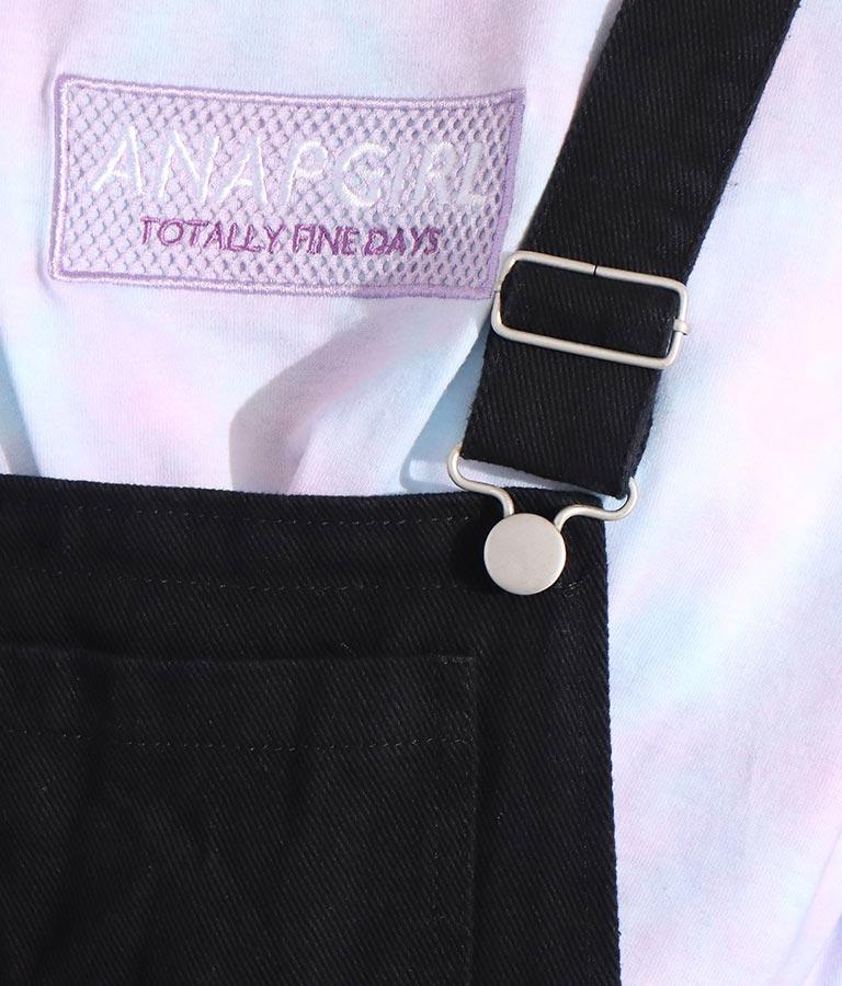 ライン入りサスペンダー付ショートパンツ(ワンピース・ドレス/サロペット/オールインワン) | ANAP GiRL