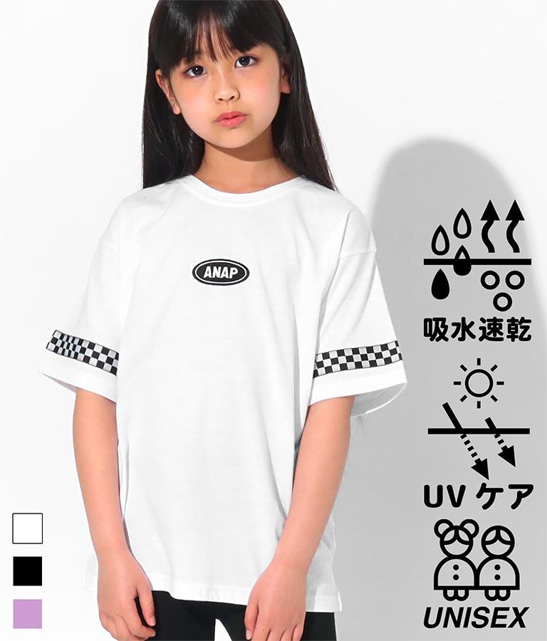 吸水速乾チェッカーテープ付ビッグTシャツ