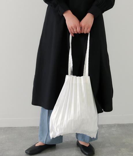 サテンプリーツトートバッグ(バッグ・鞄・小物/トートバッグ)   Factor=