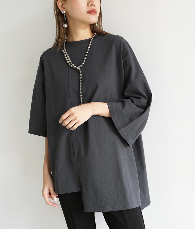 アシンメトリーオーバーサイズTシャツ(トップス/Tシャツ) | ANAP