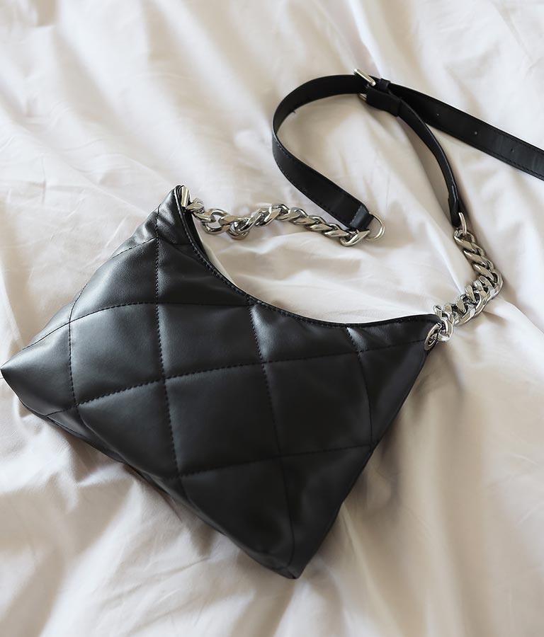 ソフトキルティングシルバーチェーンバッグ(バッグ・鞄・小物/ショルダーバッグ) | anap Latina