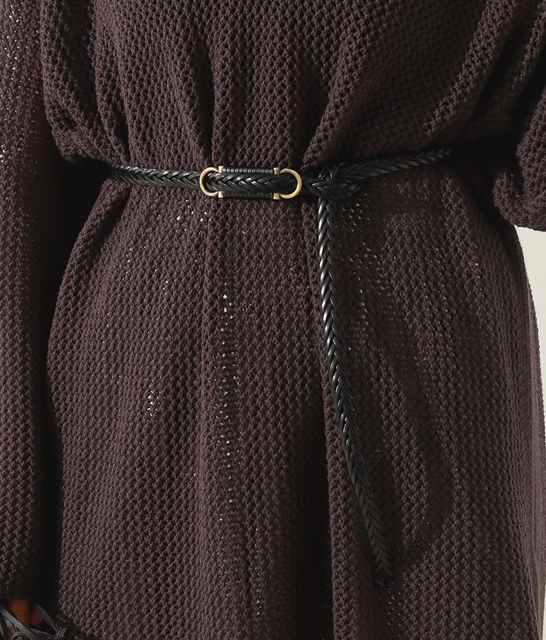 細メッシュ編みベルト(ファッション雑貨/ベルト) | Alluge