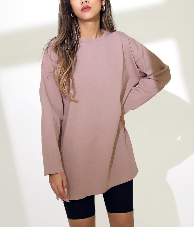 サイドスリットシンプルロンT(トップス/Tシャツ・カットソー ・ロングTシャツ)   ANAP