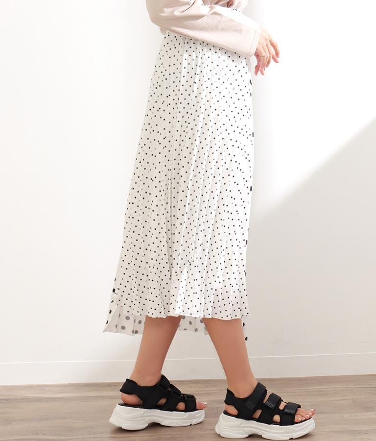 ドットプリーツ切替スカート(ボトムス・パンツ /スカート) | CHILLE