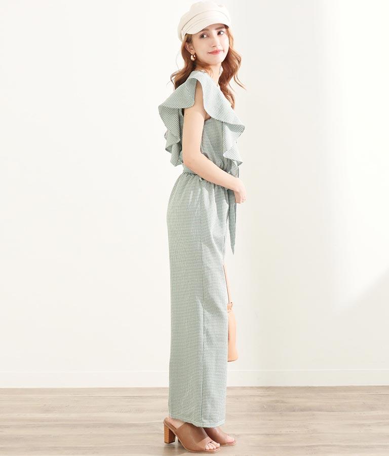 ギンガムチェックオールインワン(ワンピース・ドレス/サロペット/オールインワン) | CHILLE