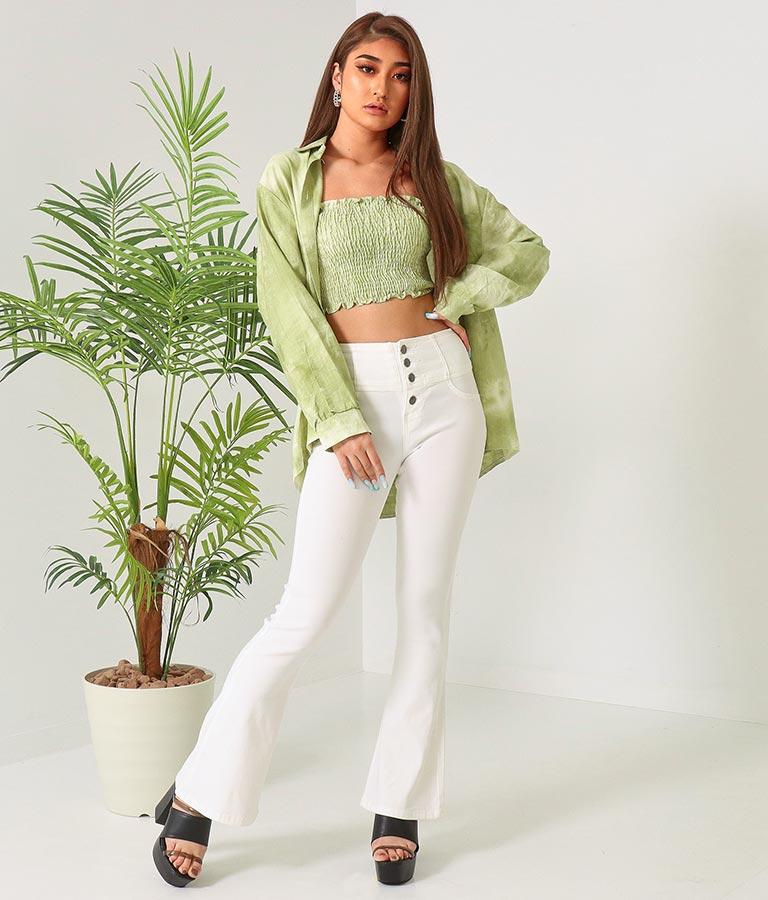 タイダイシャツ×シャーリングトップスセット(トップス/キャミソール・シャツ・ブラウス)   anap Latina