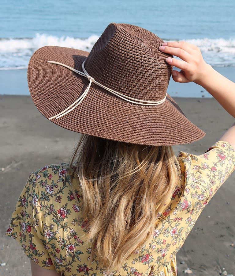 つば広ストローハット(ファッション雑貨/ハット・キャップ・ニット帽 ・キャスケット・ベレー帽) | anap mimpi